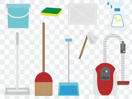 清潔工具圖標