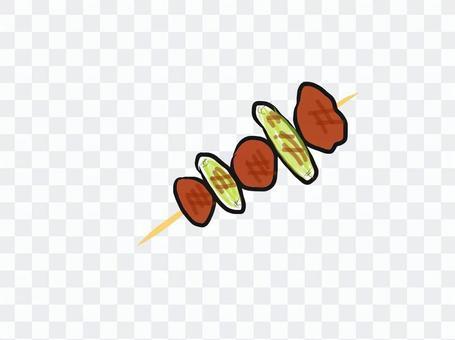 烤雞肉串(Negima)