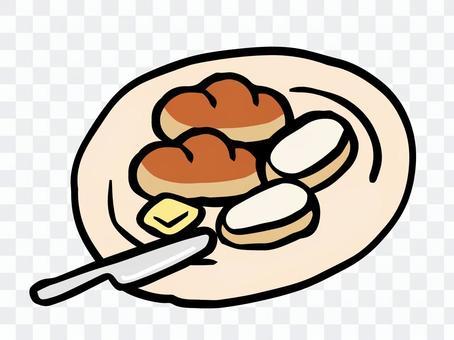 パンとバターとバターナイフ