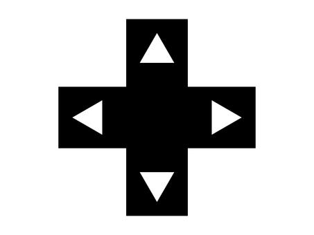 簡單的十字按鈕圖標:A