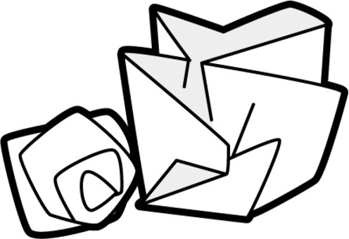 垃圾分離-廢紙黑白