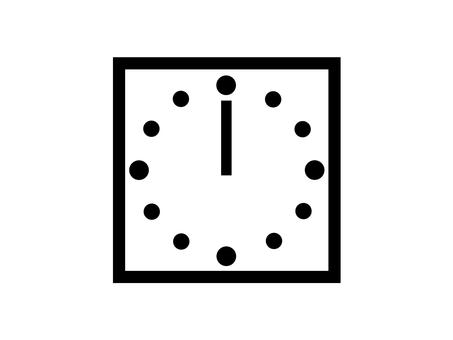 時鐘 12 點鐘剪影廣場