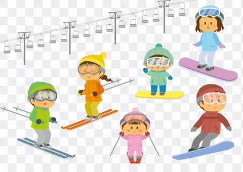 滑雪和滑雪板套裝