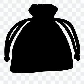 可愛的束帶袋(剪影)