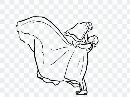 婚禮西方服裝圖