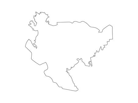 佐賀縣的空白地圖