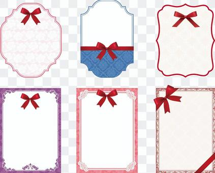 Elegant message card with ribbon