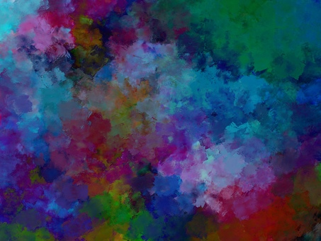 多彩夢幻般的水彩紋理背景