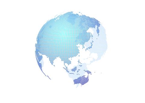 Blue Digital Network Dot Earth