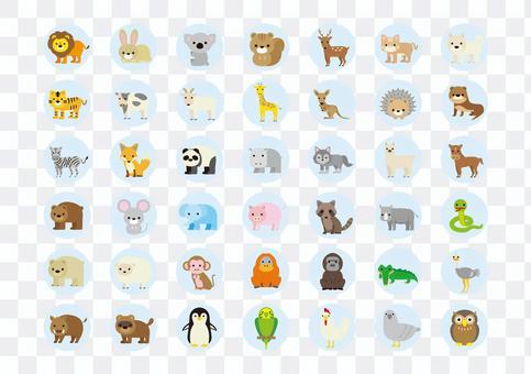 動物插圖集圓框1