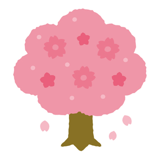 Cute cherry tree