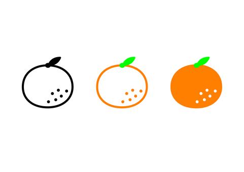 Tangerine orange icon