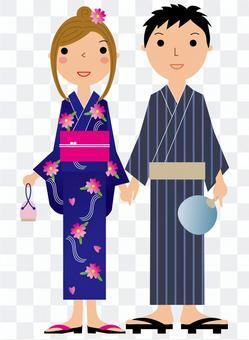 Yukata couple