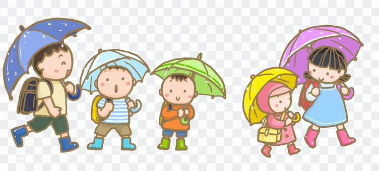 走的路在與waterdrop的雨天