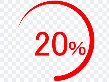 % Number 20 bargain flyer sign