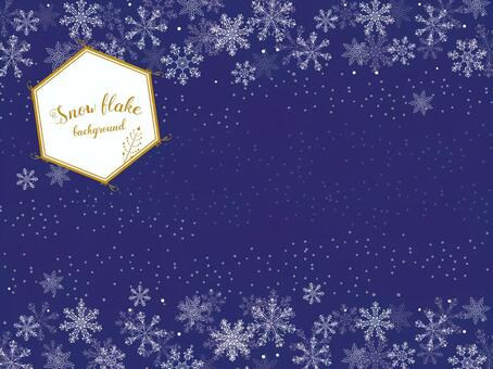 Snow crystal background (navy)