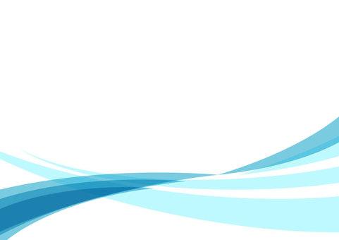 波浪線曲線背景素材(藍色)