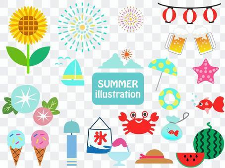 夏天的插圖集