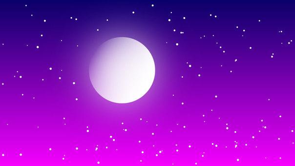 夢幻般的夜空圖