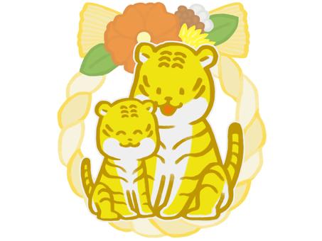虎年(虎和現代 shimenawa)