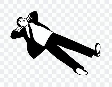 Sleeping businessman 1-2