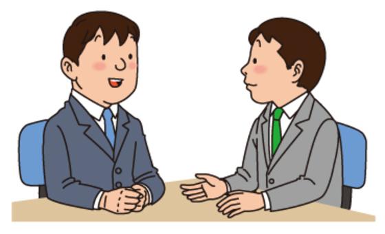 两个人说话,男性