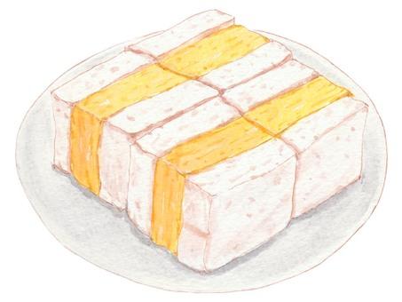 厚厚的烤雞蛋三明治
