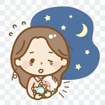 嬰兒生活系列在晚上哭