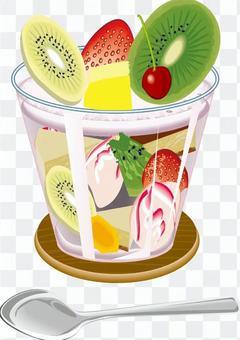 フルーツ イチゴ トライフル カップ