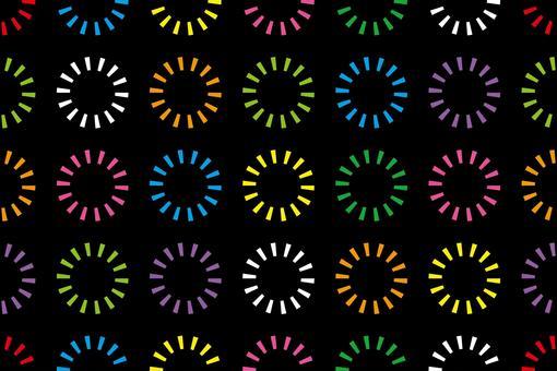 Seamless pattern like fireworks