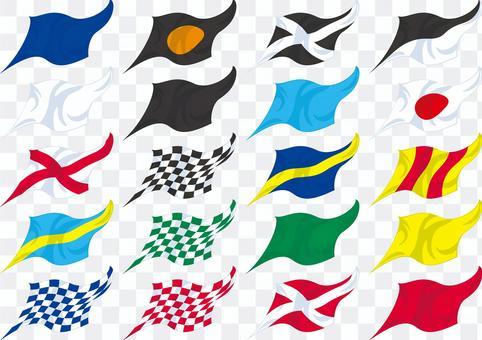 レース旗 アイコン セット
