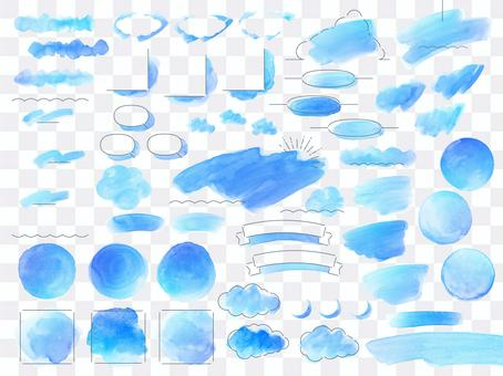 Watercolor layout_Blue sky