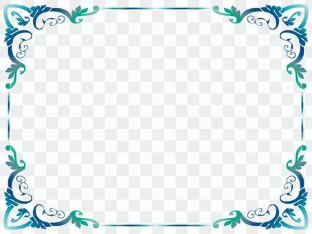Sea-colored frame