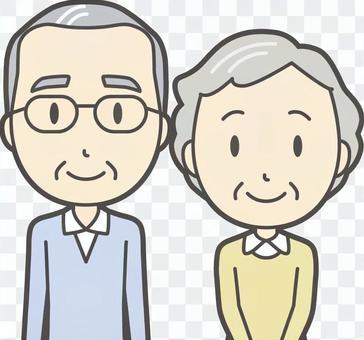 男人和女人設置老人029胸圍