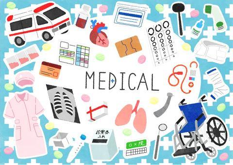 Hand drawn medical set