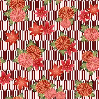 矢八愛和秋葉圖案與色板