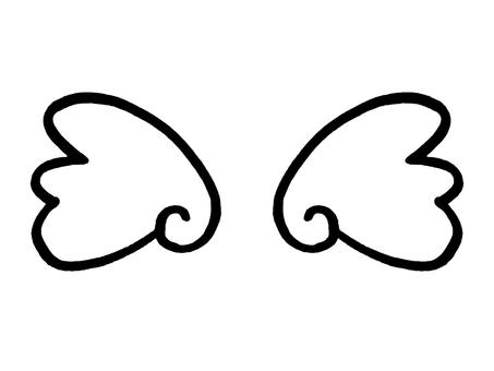 둥 그런 날개 선화