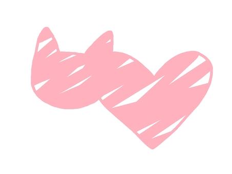 猫 ハート 型 シルエット