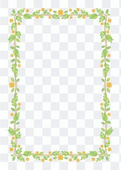 開花框架背景,A4長度,與油漆