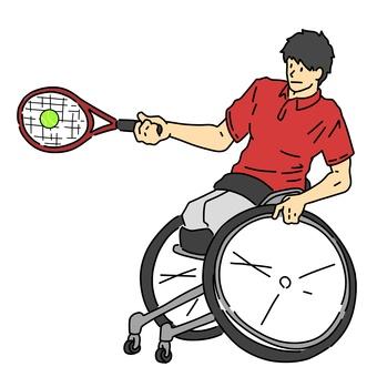 Men's wheelchair tennis player