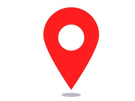 Simple map pin illustration