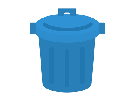 Simple and cute poly bucket illustration