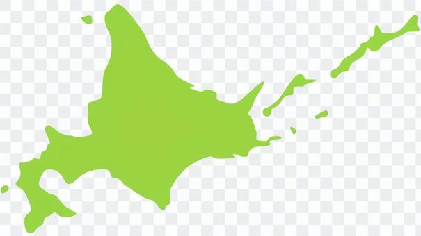 地圖_帶邊界北海道地圖_(無字符)