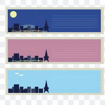 城市景觀框架的插圖