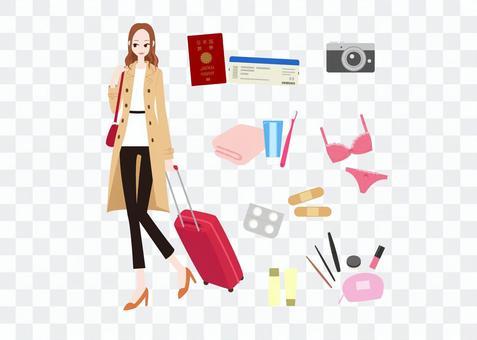 時尚女性 - 旅遊