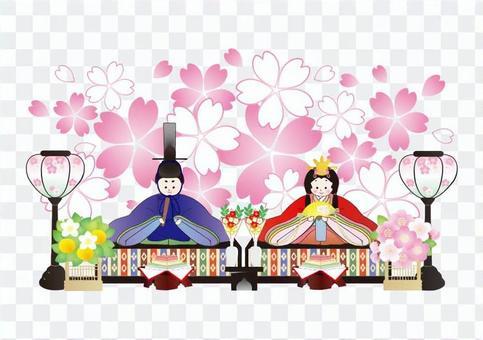 Ochanomashi simple cherry background