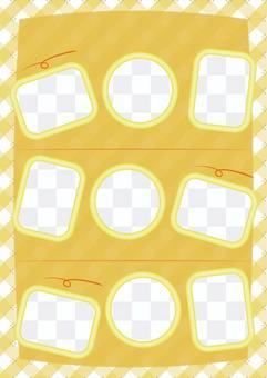 Refreshing check photo album yellow general-purpose version