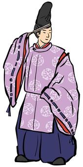 日式形象平安時代的男人