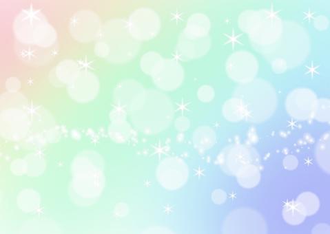 彩虹漸變背景散景