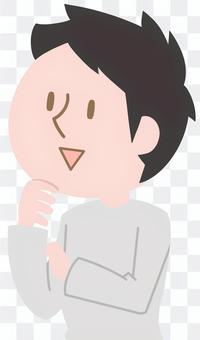 對話,Aizuchi,哼哼哼,男子